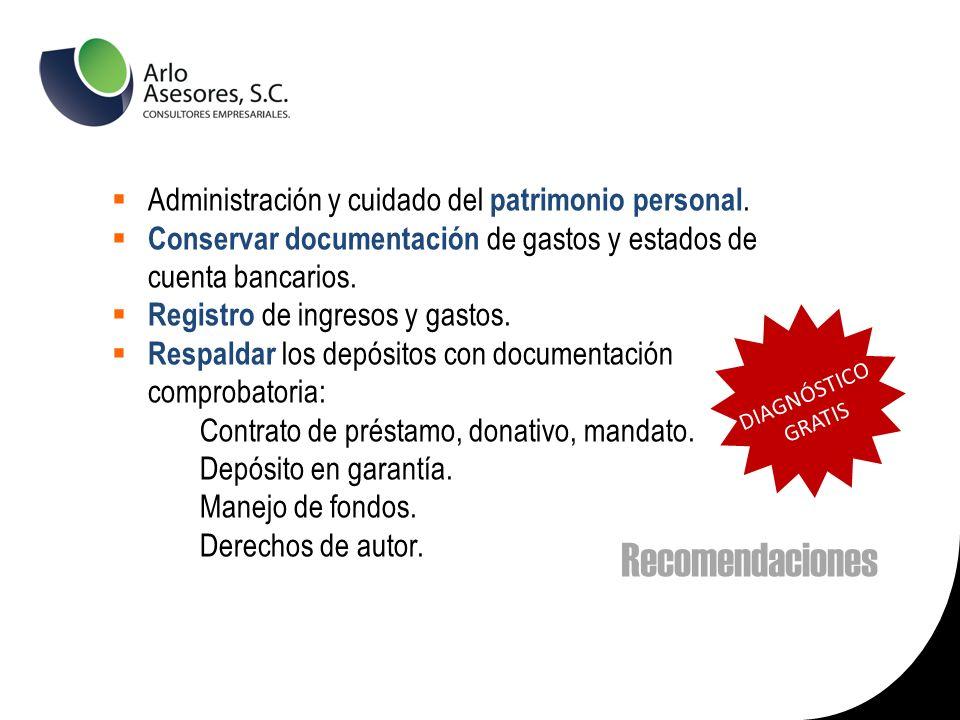 Administración y cuidado del patrimonio personal.