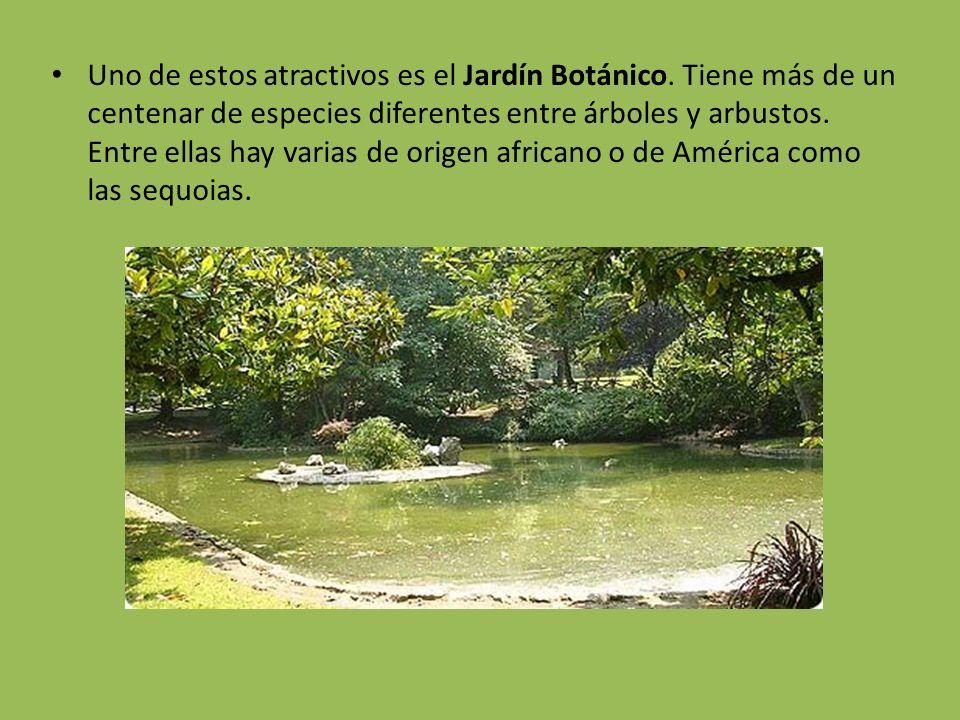 Uno de estos atractivos es el Jardín Botánico. Tiene más de un centenar de especies diferentes entre árboles y arbustos. Entre ellas hay varias de ori