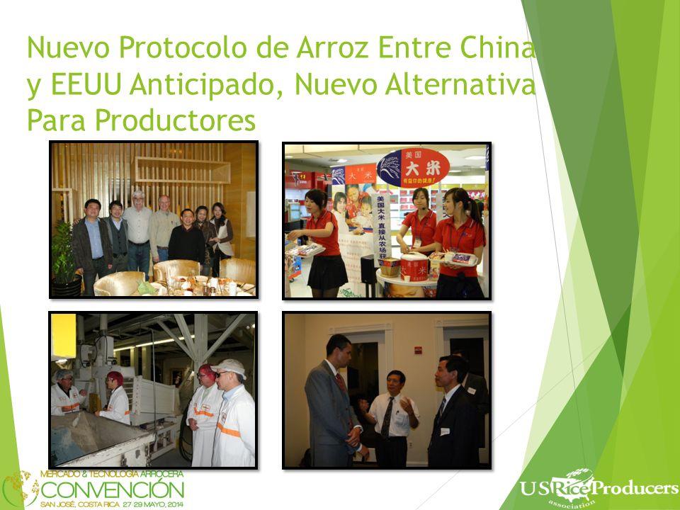 Nuevo Protocolo de Arroz Entre China y EEUU Anticipado, Nuevo Alternativa Para Productores