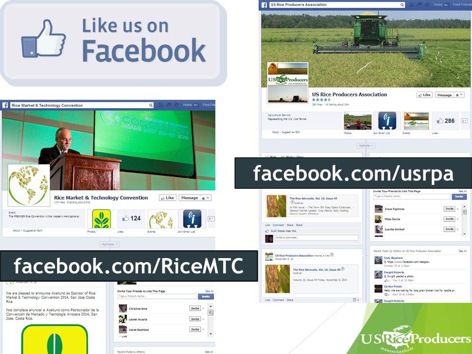 facebook.com/usrpa facebook.com/RiceMTC