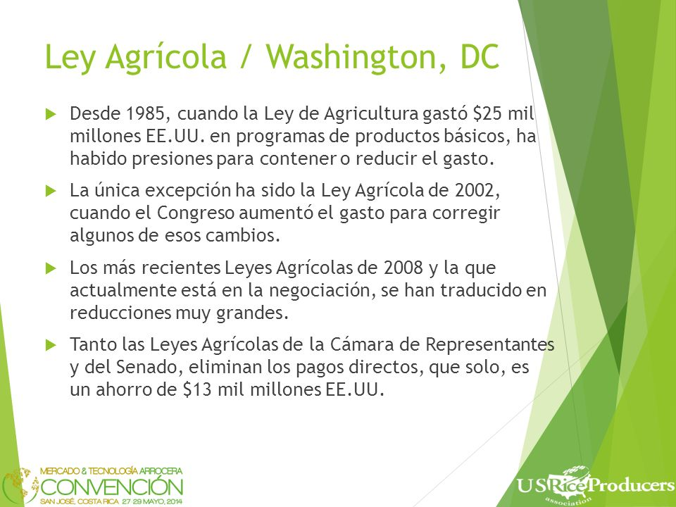 Boletin semanal gratis E-mail: info@ usriceproducers.com to sign up. The Rice Advocate