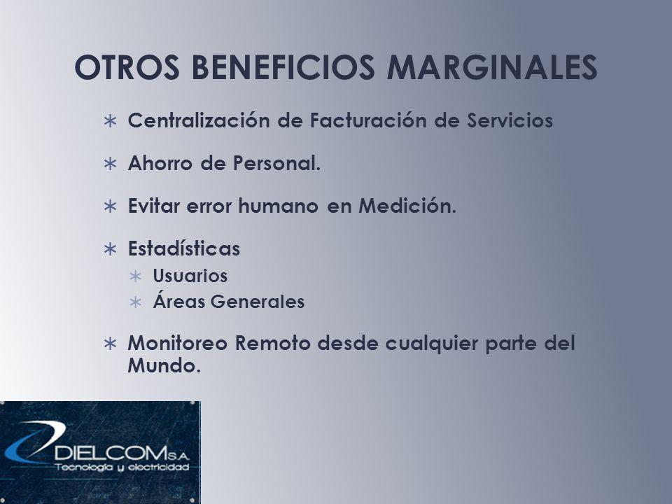 OTROS BENEFICIOS MARGINALES Centralización de Facturación de Servicios Ahorro de Personal.