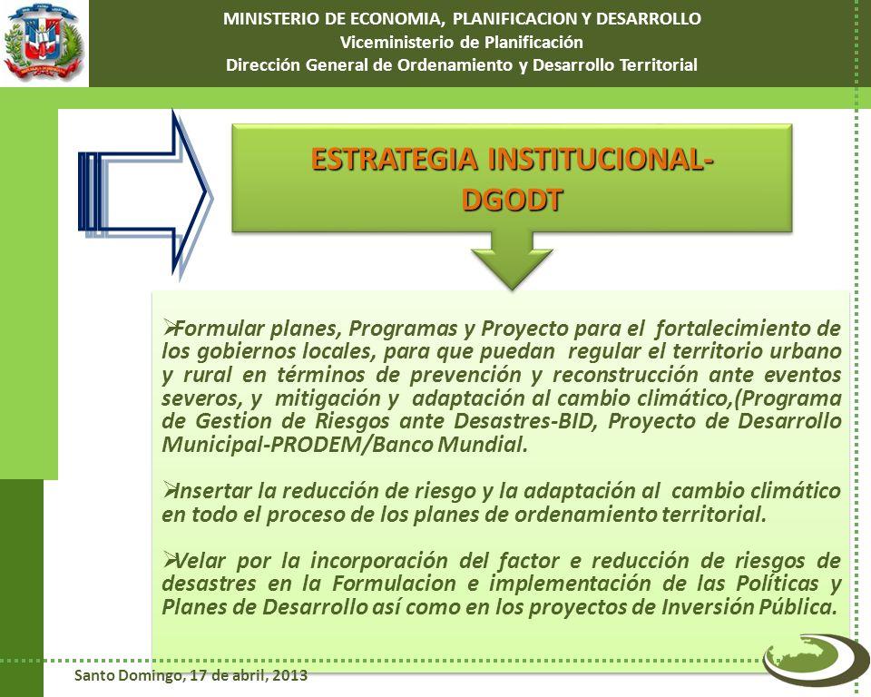 Formular planes, Programas y Proyecto para el fortalecimiento de los gobiernos locales, para que puedan regular el territorio urbano y rural en términ