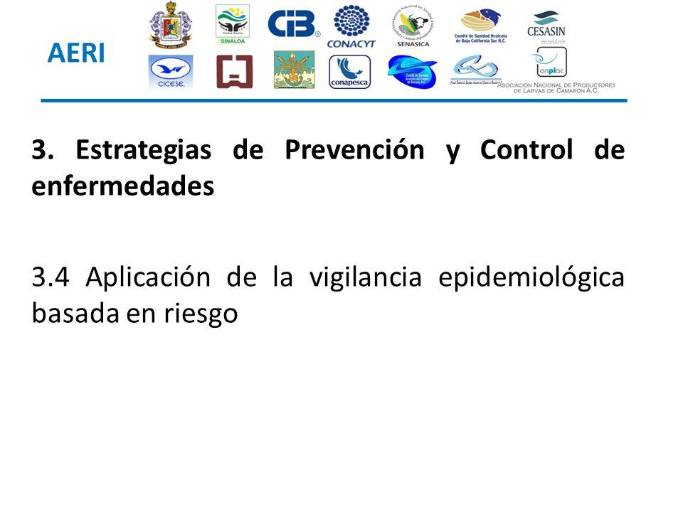 3. Estrategias de Prevención y Control de enfermedades 3.4 Aplicación de la vigilancia epidemiológica basada en riesgo AERI