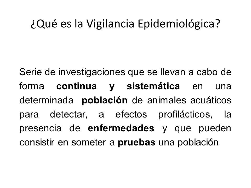 ¿Qué es la Vigilancia Epidemiológica? Serie de investigaciones que se llevan a cabo de forma continua y sistemática en una determinada población de an