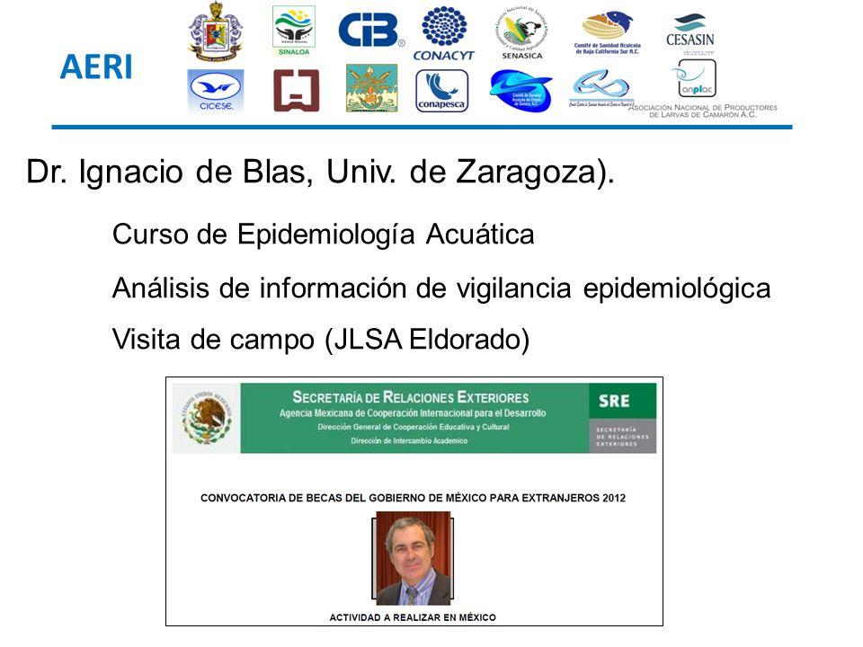 Dr. Ignacio de Blas, Univ. de Zaragoza). Curso de Epidemiología Acuática Análisis de información de vigilancia epidemiológica Visita de campo (JLSA El