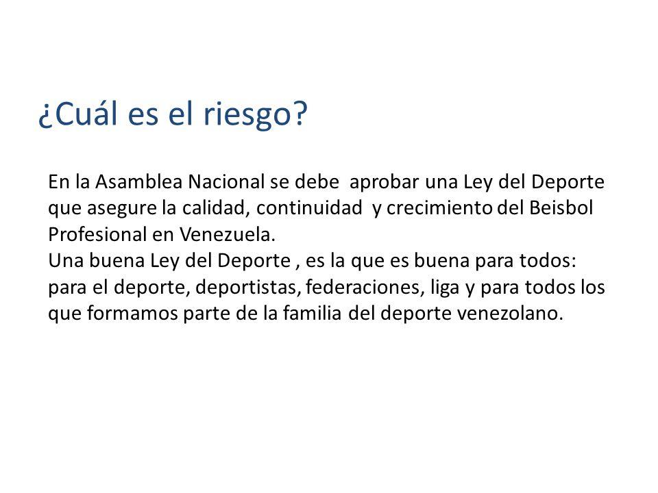 Se podría ver afectada la libertad que hoy tienen los peloteros, la liga, los equipos y la fanaticada de decidir cómo se juega y disfruta el Béisbol en Venezuela ¿Por qué es un riesgo.