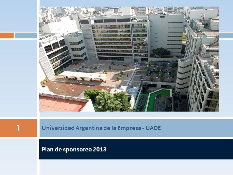 Plan de sponsoreo 2013 Universidad Argentina de la Empresa - UADE 1