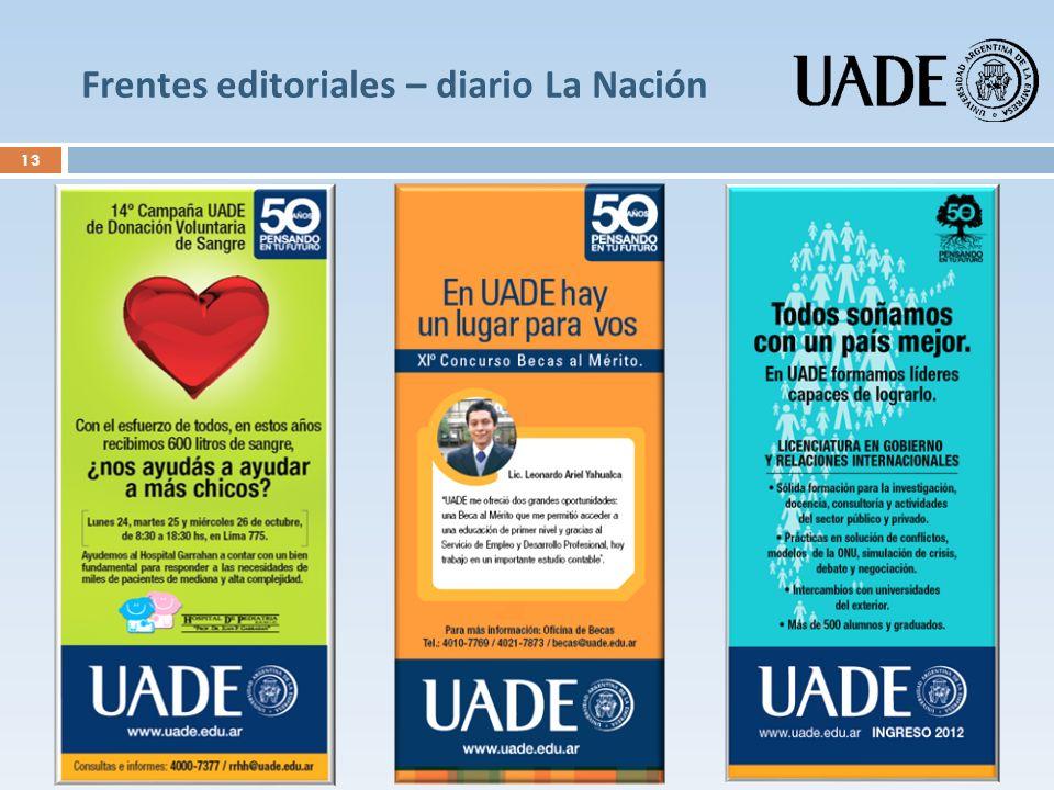 Frentes editoriales – diario La Nación 13