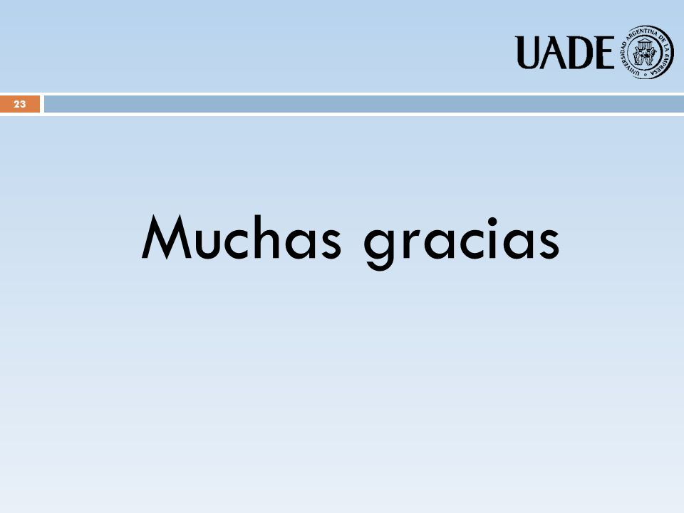 Muchas gracias 23