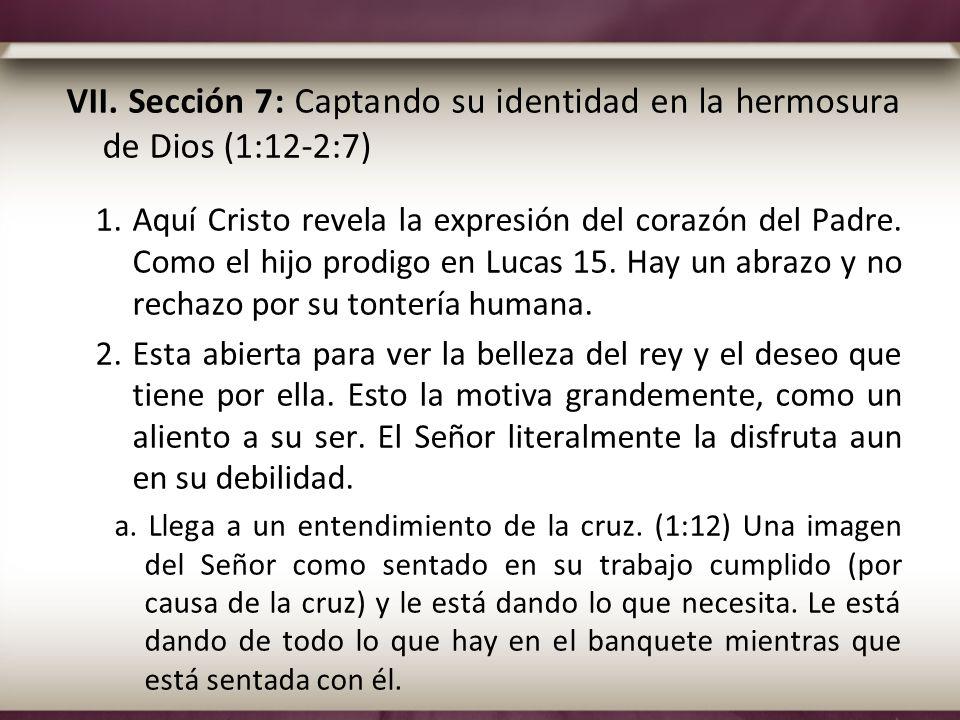 VII. Sección 7: Captando su identidad en la hermosura de Dios (1:12-2:7) 1.Aquí Cristo revela la expresión del corazón del Padre. Como el hijo prodigo