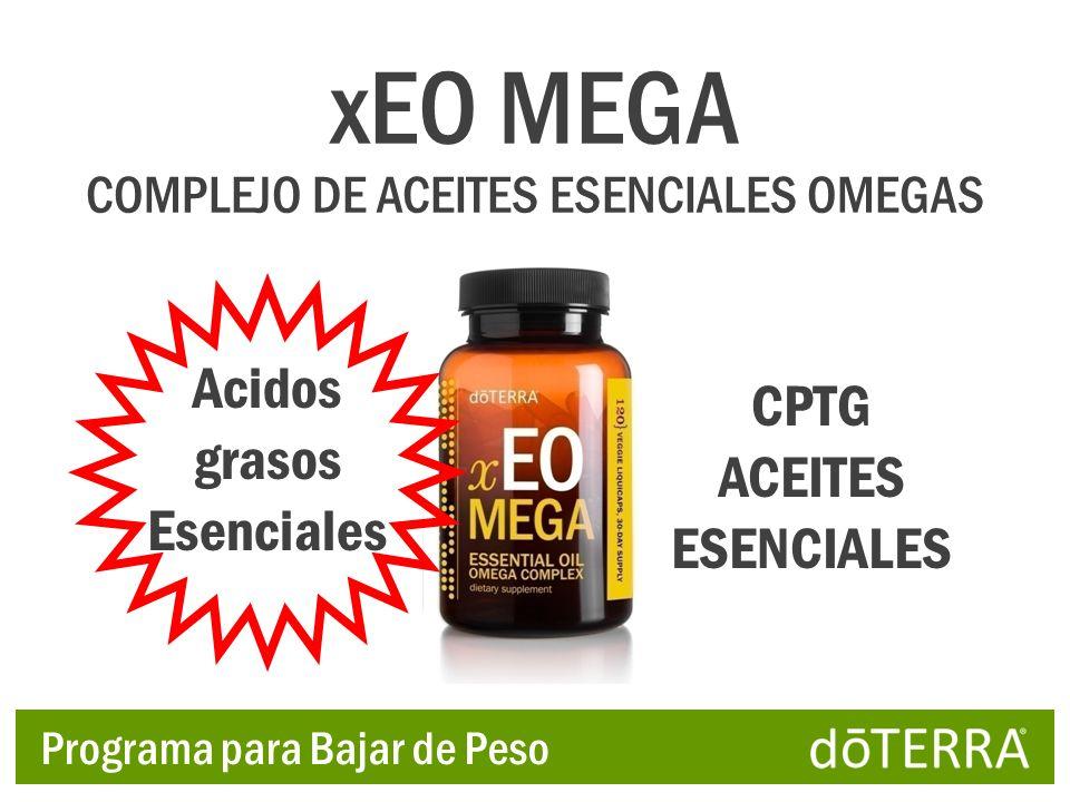 Acidos grasos Esenciales CPTG ACEITES ESENCIALES xEO MEGA COMPLEJO DE ACEITES ESENCIALES OMEGAS Programa para Bajar de Peso