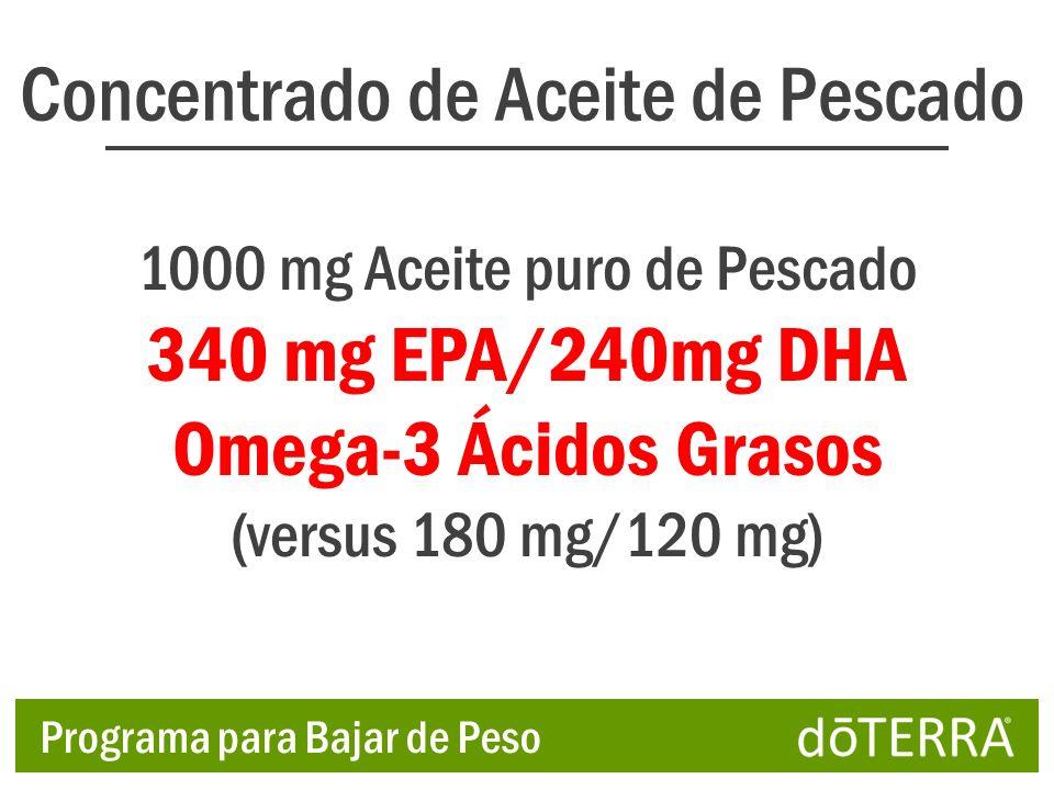 Concentrado de Aceite de Pescado 1000 mg Aceite puro de Pescado 340 mg EPA/240mg DHA Omega-3 Ácidos Grasos (versus 180 mg/120 mg) Programa para Bajar