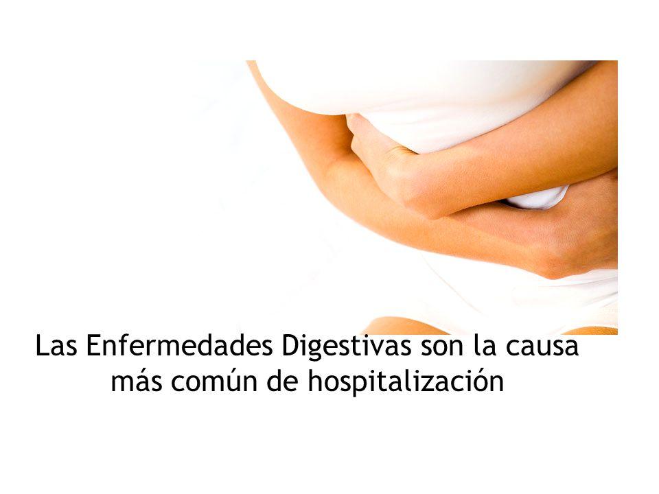 Las Enfermedades Digestivas son la causa más común de hospitalización