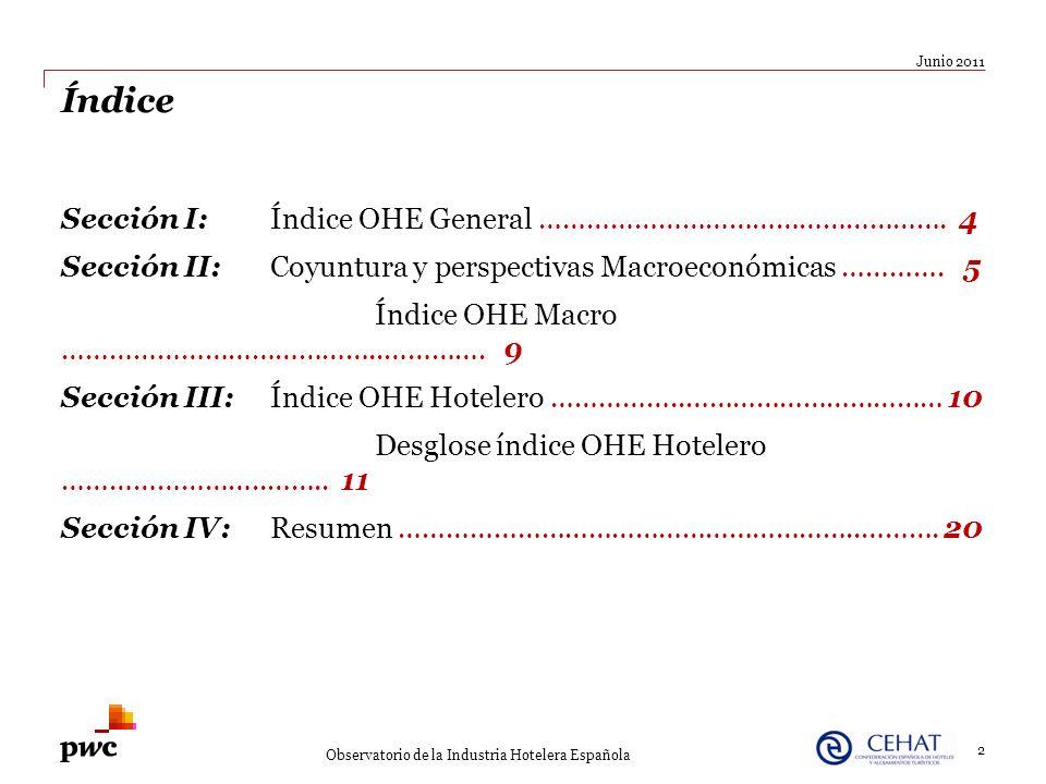 Índice Sección I:Índice OHE General ……………………………………………. 4 Sección II:Coyuntura y perspectivas Macroeconómicas …………. 5 Índice OHE Macro …………………………………..…