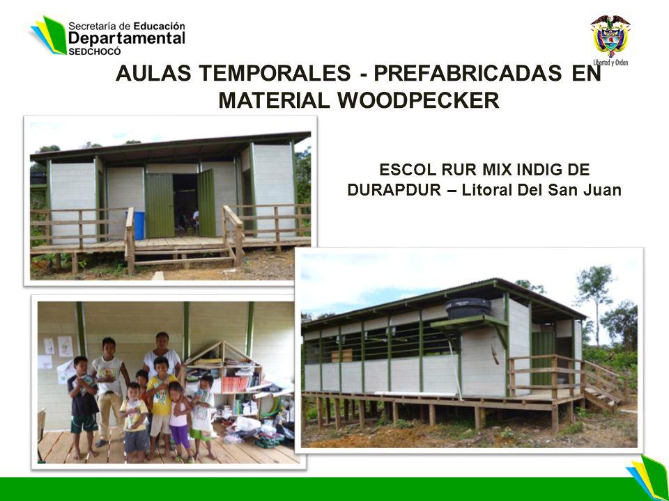 ESCOL RUR MIX INDIG DE DURAPDUR – Litoral Del San Juan