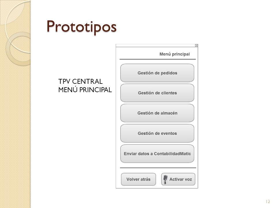 Prototipos TPV CENTRAL MENÚ PRINCIPAL 12