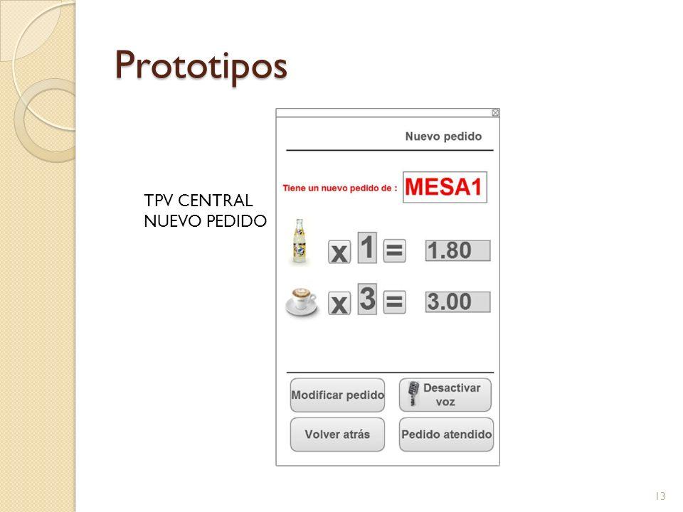 Prototipos TPV CENTRAL NUEVO PEDIDO 13