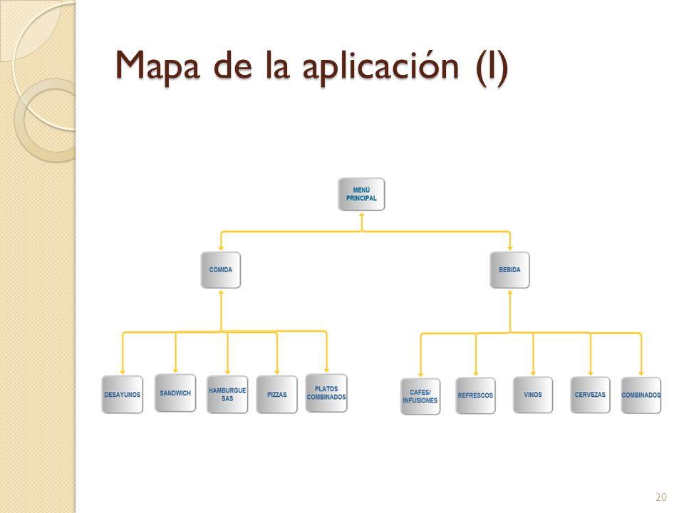 Mapa de la aplicación (I) 20
