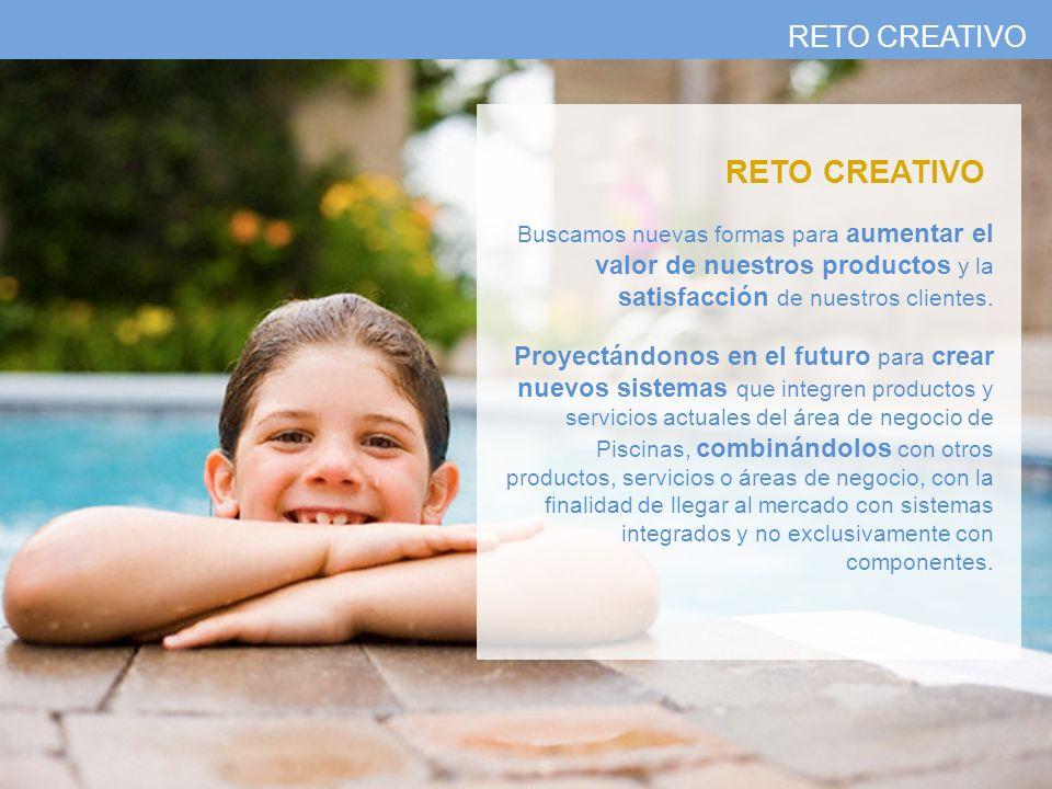 RETO CREATIVO Buscamos nuevas formas para aumentar el valor de nuestros productos y la satisfacción de nuestros clientes. Proyectándonos en el futuro
