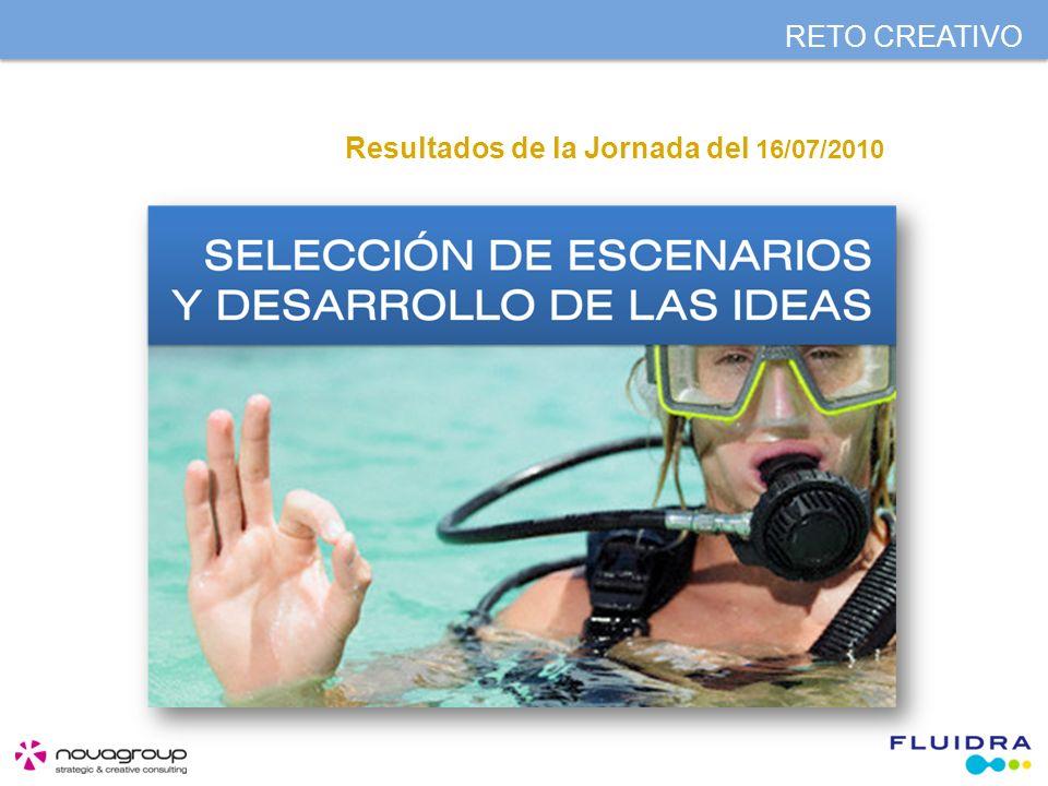 RETO CREATIVO Resultados de la Jornada del 16/07/2010