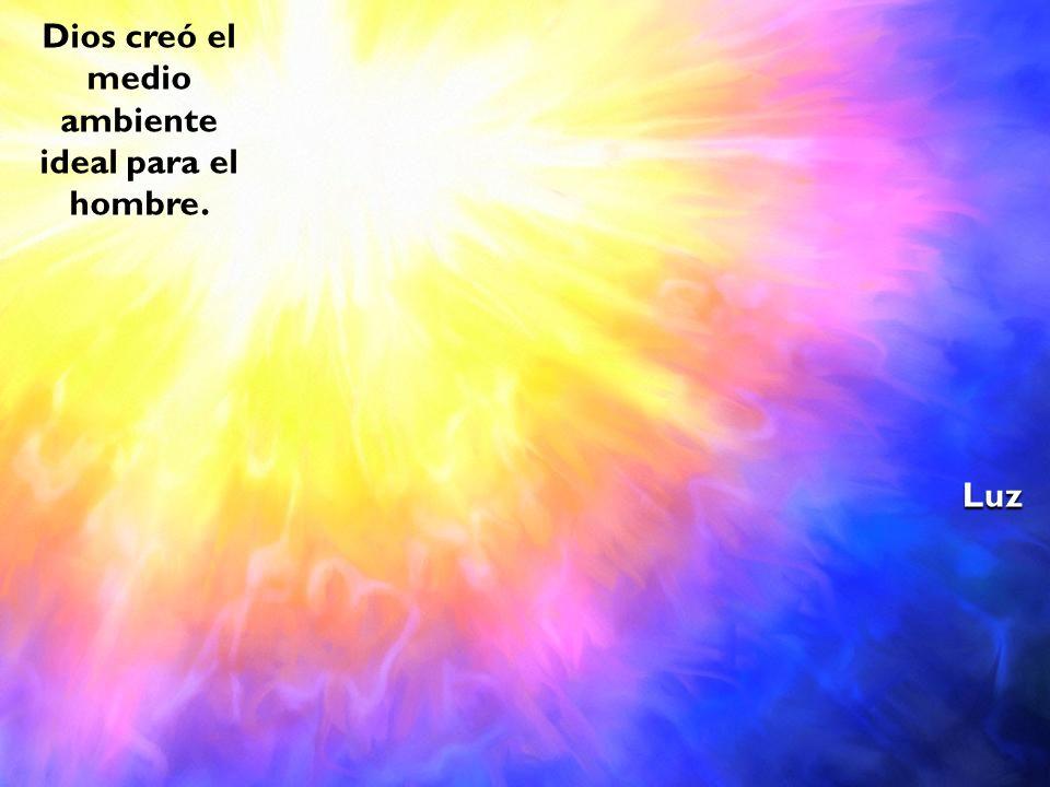 Dios creó el medio ambiente ideal para el hombre. Luz