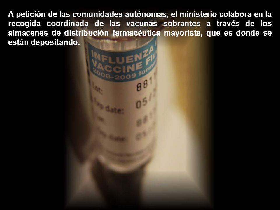 Todo esto cuando, en España, todavía no es definitivo el procedimiento para los excedentes de la vacuna de gripe A del año pasado, se acordará con las comunidades autónomas que son las propietarias de las vacunas.