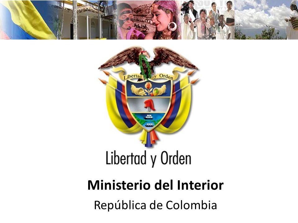 Ministerio del Interior República de Colombia