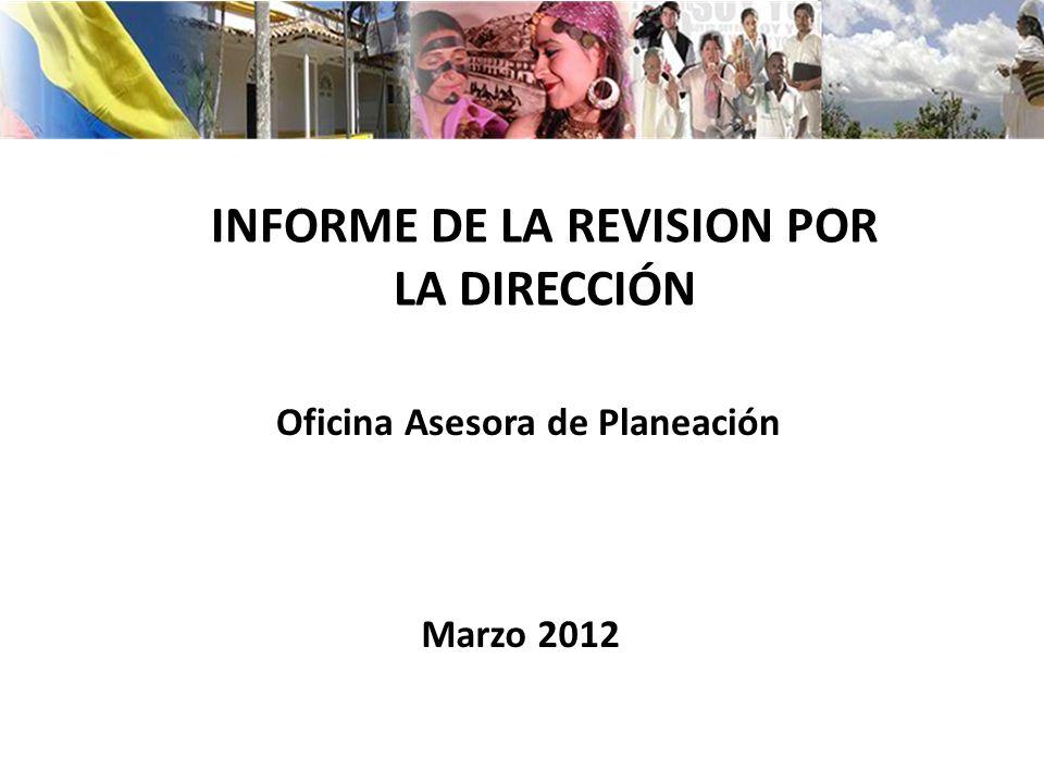 INFORME DE LA REVISION POR LA DIRECCIÓN Oficina Asesora de Planeación Marzo 2012