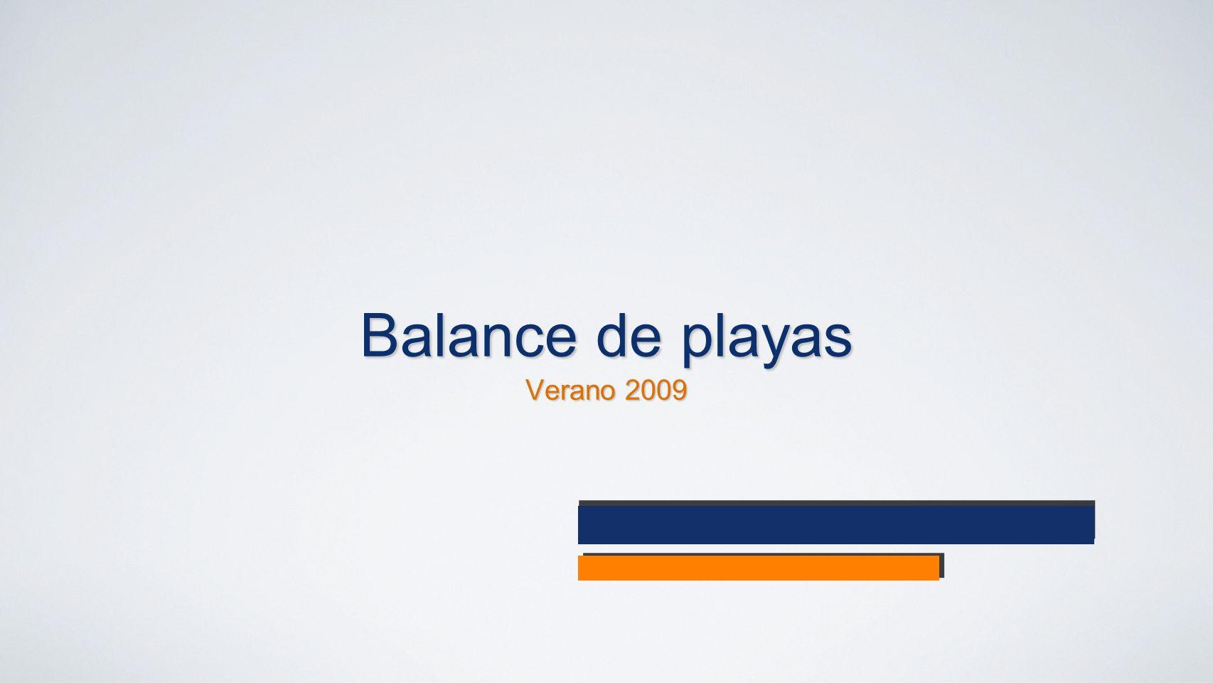 Balance de playas Verano 2009