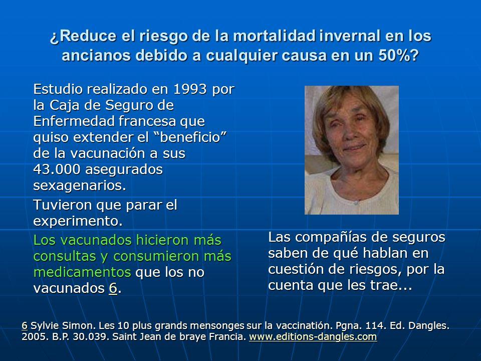 ¿Reduce el riesgo de la mortalidad invernal en los ancianos debido a cualquier causa en un 50%.