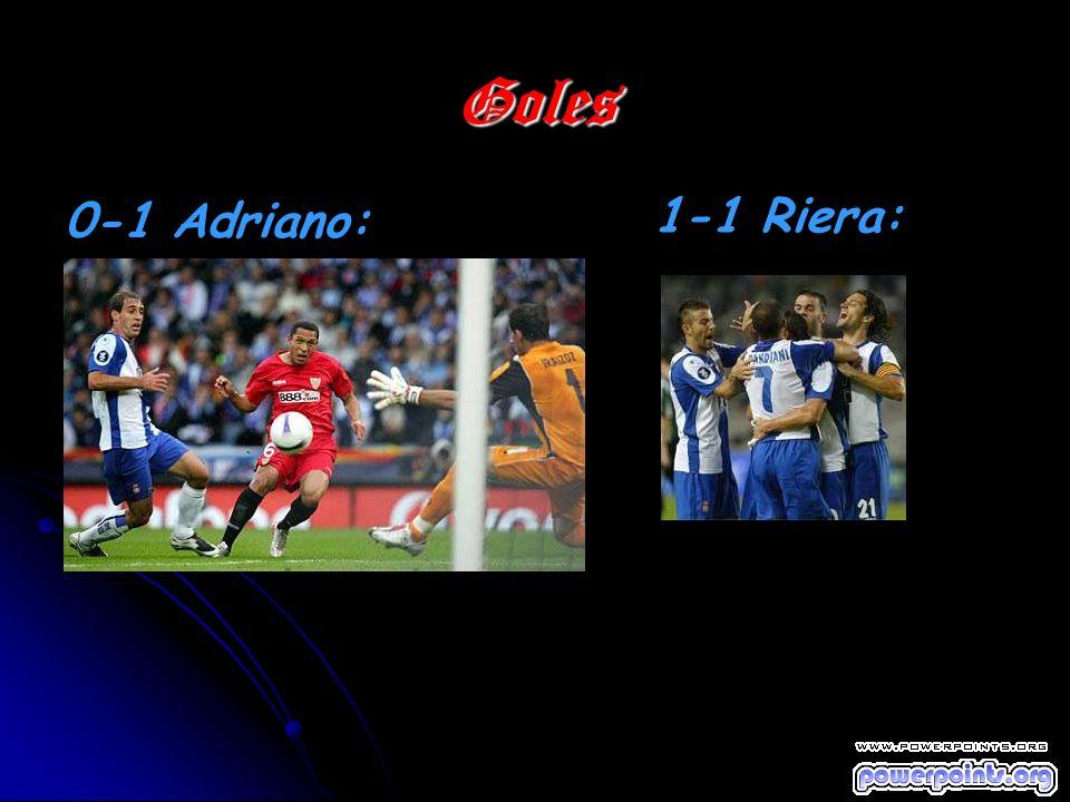 Goles 0-1 Adriano: 1-1 Riera: