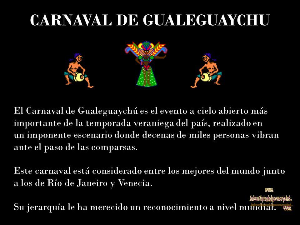 El Carnaval de Gualeguaychú es el evento a cielo abierto más importante de la temporada veraniega del país, realizado en un imponente escenario donde decenas de miles personas vibran ante el paso de las comparsas.