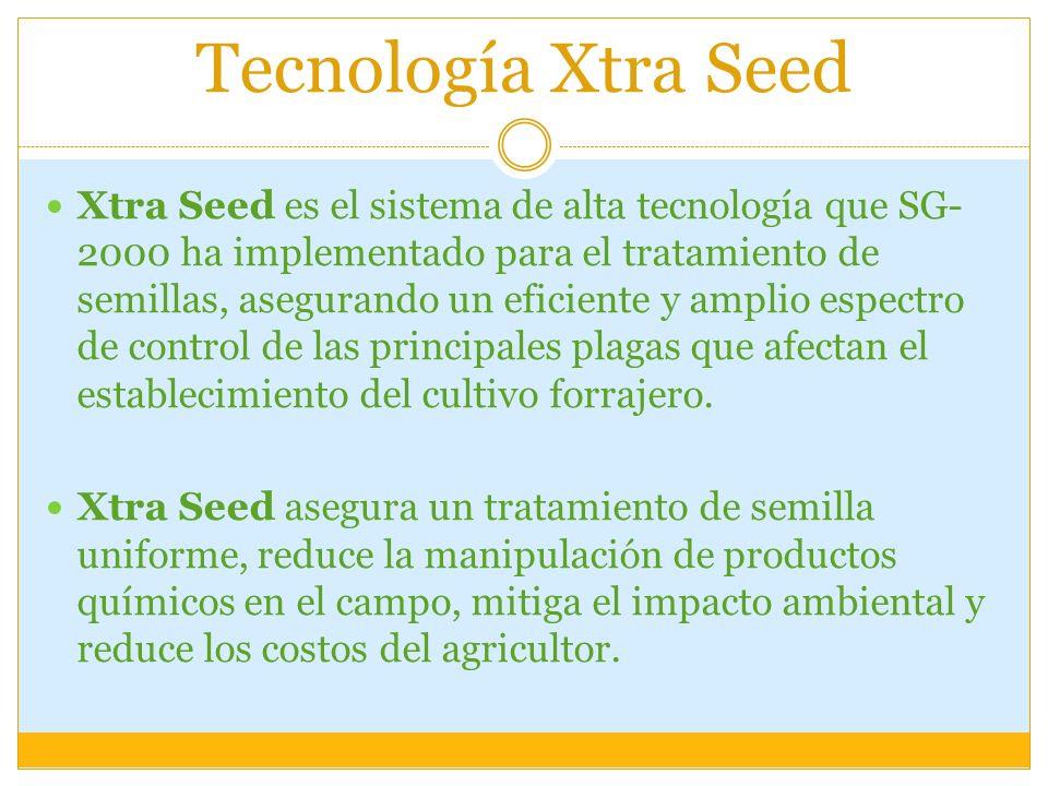 Tecnología Xtra Seed Xtra Seed es el sistema de alta tecnología que SG- 2000 ha implementado para el tratamiento de semillas, asegurando un eficiente