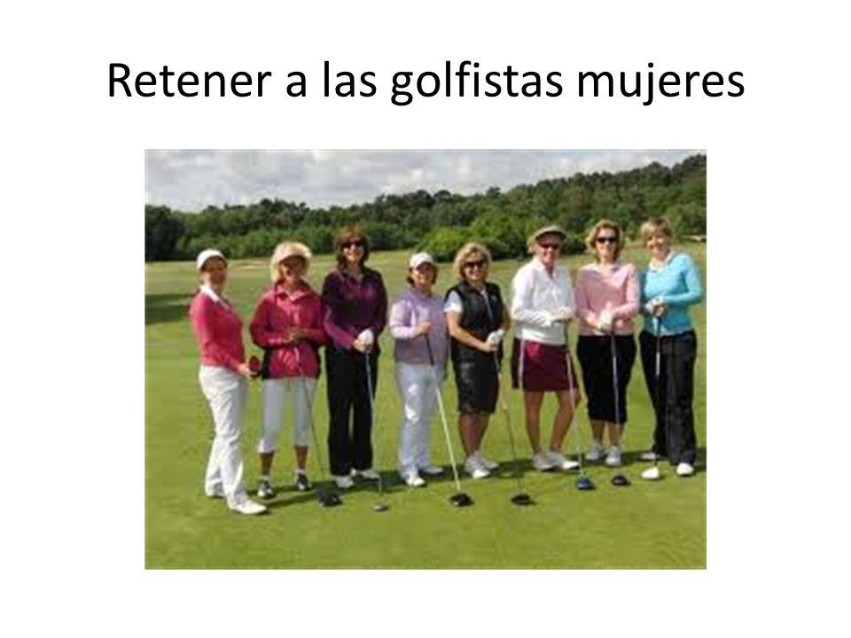 Retener a las golfistas mujeres