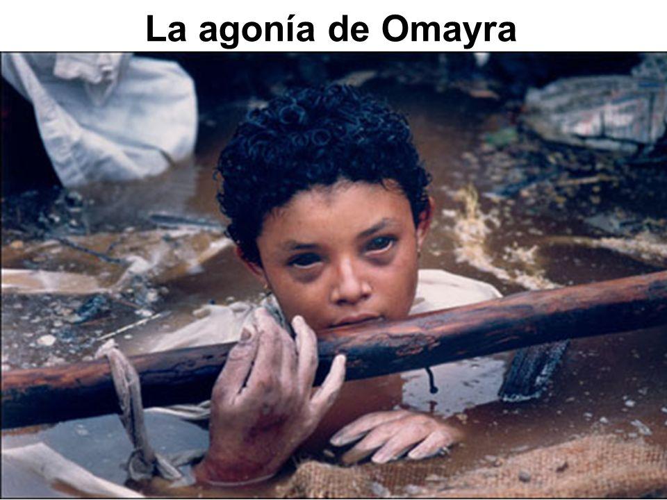 Omayra Sánchez fue una niña víctima del volcán Nevado del Ruiz durante la erupción que arraso al pueblo de Armero, Colombia en 1985.