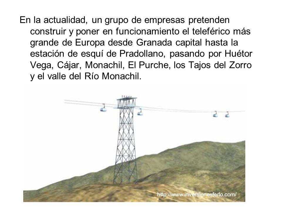 En la actualidad, un grupo de empresas pretenden construir y poner en funcionamiento el teleférico más grande de Europa desde Granada capital hasta la