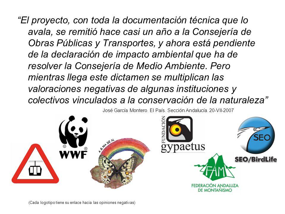 Más de la mitad del trazado del teleférico (10 Kms.) transcurre dentro del Espacio Protegido de Sierra Nevada, macizo que además está designado Reserva de la Biosfera, Zona de Especial Protección para las Aves (ZEPA) y Lugar de Importancia Comunitaria (LIC) y por tanto incluida en la Red Natura 2000.