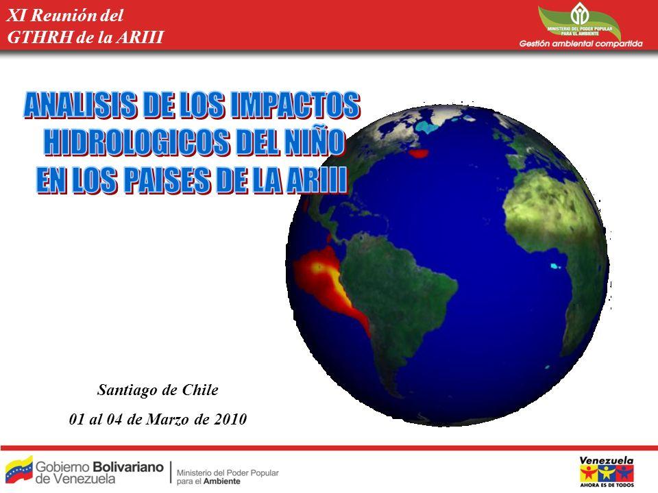 OBJETIVOS Recopilación de Información sobre los impactos que el ENSO ha ocasionado en los países de la región y sobre las acciones que se han venido tomando en cada uno de ellos para mitigar o reducir los impactos negativos.