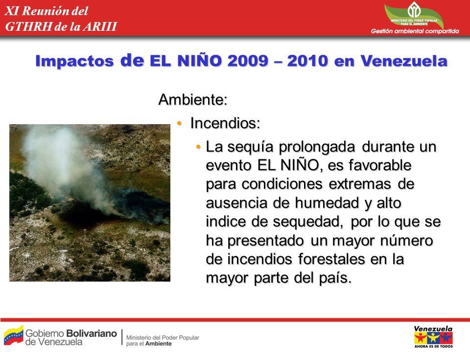 Ambiente: Incendios: Incendios: La sequía prolongada durante un evento EL NIÑO, es favorable para condiciones extremas de ausencia de humedad y alto i