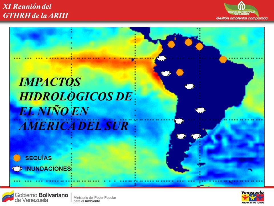 RECOMENDACIONES Se recomienda, inventariar y comparar los métodos y modelos de predicciones hidrológicas, entre los países de la ARIII.