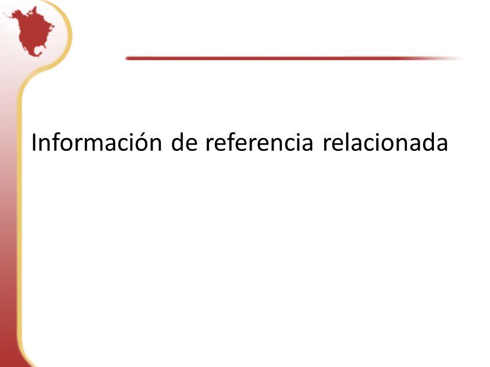 Información de referencia relacionada