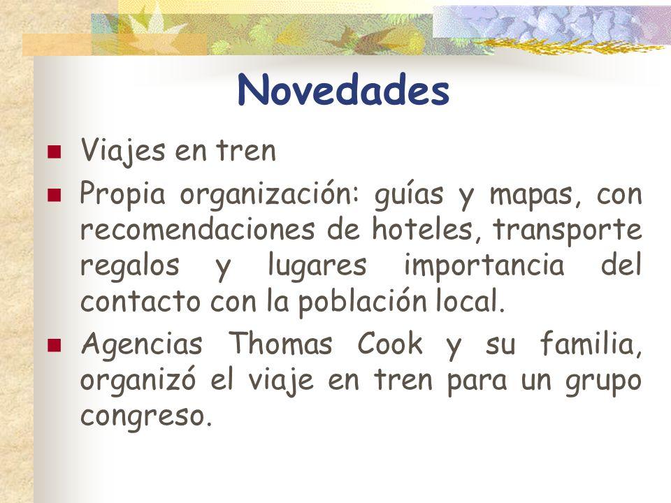 Novedades Viajes en tren Propia organización: guías y mapas, con recomendaciones de hoteles, transporte regalos y lugares importancia del contacto con