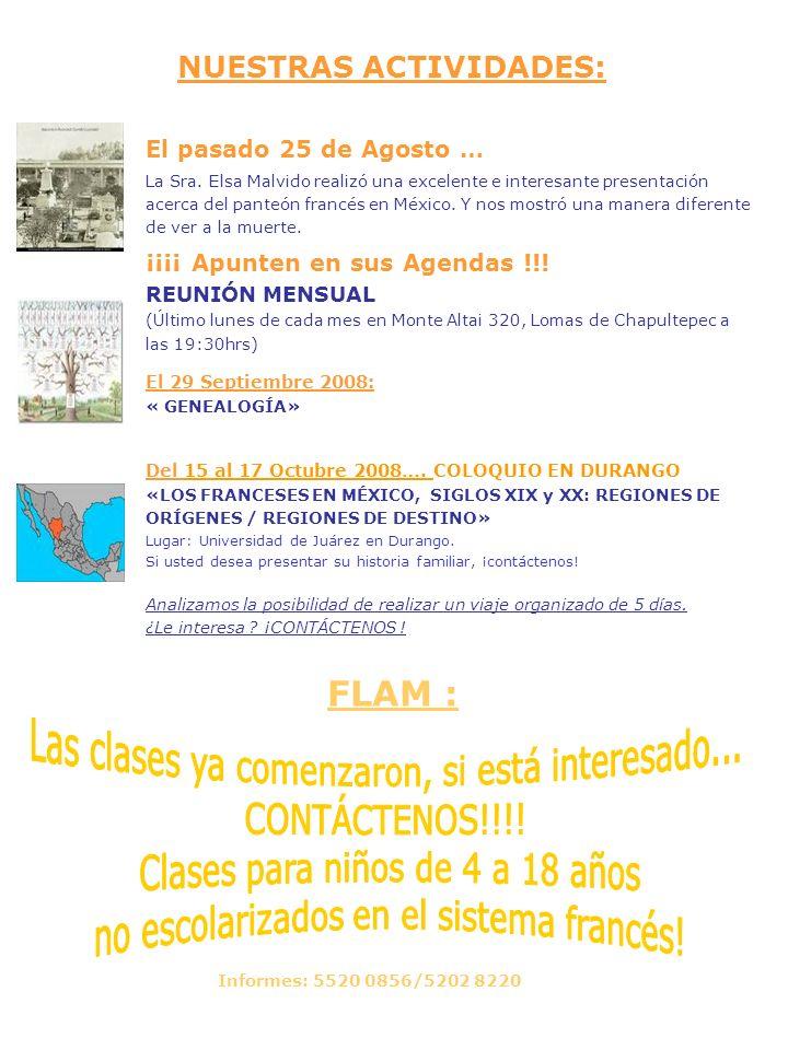 La agenda de las otras Asociaciones: No olvide consultar sus páginas web El 13 de Septiembre a las 20hrs y El 14 de Septiembre a las 12hrs OFUNAM Tercera temporada Obertura de Atzimba de Ricardo Castro, Danzas cubanas de R.