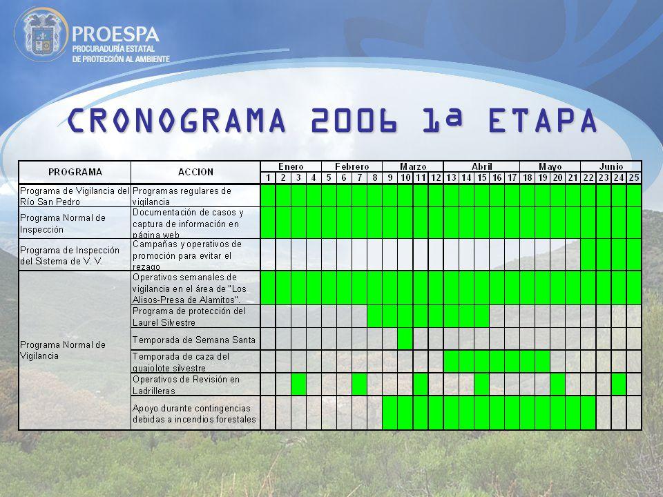 CRONOGRAMA 2006 1ª ETAPA