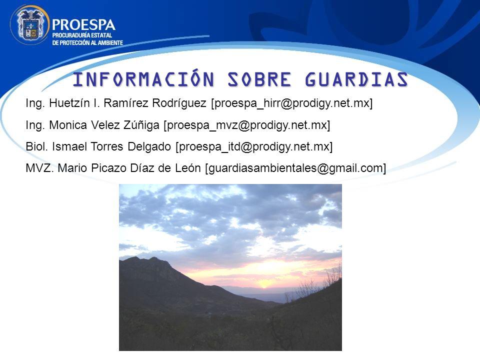 Ing. Huetzín I. Ramírez Rodríguez [proespa_hirr@prodigy.net.mx] Ing. Monica Velez Zúñiga [proespa_mvz@prodigy.net.mx] Biol. Ismael Torres Delgado [pro