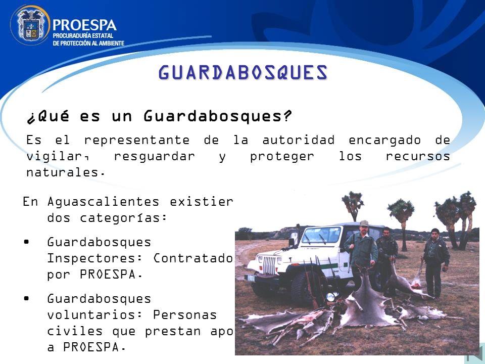 ¿Qué es un Guardabosques? Es el representante de la autoridad encargado de vigilar, resguardar y proteger los recursos naturales. GUARDABOSQUES En Agu