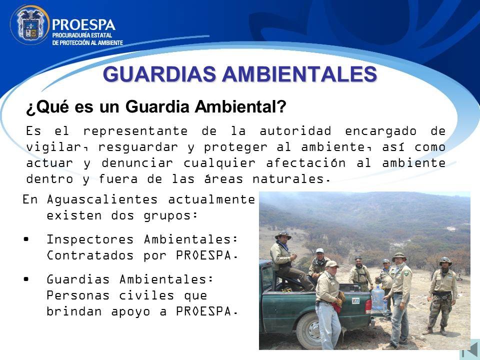 ¿Qué es un Guardia Ambiental? Es el representante de la autoridad encargado de vigilar, resguardar y proteger al ambiente, así como actuar y denunciar
