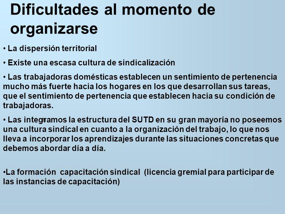 Contexto socioeconómico y cultural de las trabajadoras domésticas La mayor parte son jefas de hogar.
