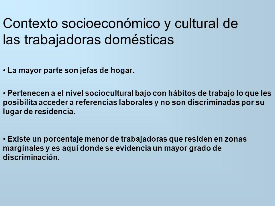 En cuanto al perfil educativo de las trabajadoras domésticas Antiguamente: personas con bajo nivel educativo (primaria incompleta) y provenientes del interior del país.